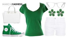 """""""march madness"""" by j-n-a ❤ liked on Polyvore featuring Muse, Converse, Siman Tu, Laundry by Shelli Segal, Current/Elliott, Michael Kors, hightops and marchmadness"""