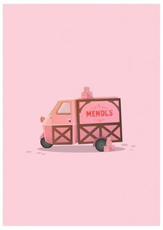Poster 50 x 70 cm: Mendls Van - Grand Budapest Hotel von George Townley… Grand Budapest Hotel, Grand Hotel, Web Design Inspiration, Painting Inspiration, Art Inspo, Illustrations, Illustration Art, Fuerza Natural, Wes Anderson Movies