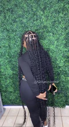 Cute Box Braids Hairstyles, Box Braids Hairstyles For Black Women, Hair Ponytail Styles, Braids Hairstyles Pictures, Braided Ponytail Hairstyles, Black Girl Braids, Dope Hairstyles, Hot Hair Styles, African Braids Hairstyles