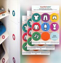 Kommoden - Aufkleber als Sortierhilfe -Kinder Kleiderschrank - ein Designerstück von Maosaitout5732 bei DaWanda