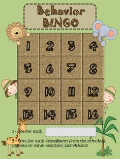 Jungle / Safari theme -  Fun way to learn and reinforce classroom procedures and rules  - working as a team! :)