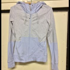 Lululemon jacket lavender and grey XS NWOT, I couldn't find any tags inside and I don't remember if they have them, it's been so long since I've been to their store. Lavender and grey, never worn, but washed once..it got a bit dirty just lying around. I forgot I had it! But it's like new, never fear lululemon athletica Jackets & Coats