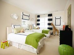 kids room.  Would look so cute with the navy blue and white stripes and bright pink or coral!  Love