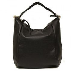 Gucci Black Leather Braided Top Handle Bamboo Hobo Bag. Available at http://Brandinia.com