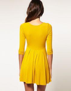 ASOS Dress with Pleated Skater Skirt Main: 95% Viscose 5% Elastane Product Code: 137182
