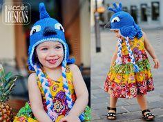 Blue Parrot Hat PDF Crochet Pattern by IraRott Inc.