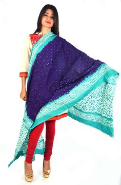 Styleincraft Handmade cotton Bandhej printed mix Dupatta available in 2 shade Royal Blue and sky blue color design. This combination is unique mix n match you can find our best collection in Dupattas.  #Buyhandbagsonline #HandmadeHandbags #Authenticdesignerhandbags #Womenswallets #Pursesonline #Handmadeitems #Styleincraft