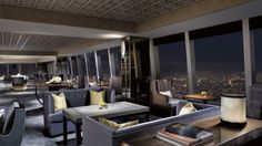 The club lounge at the Ritz in Hong Kong isn't just about the view from 1,500+ feet above sea level.