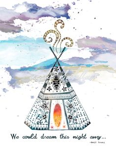 Boho Teepee Art Print Neil Young by LeslieSabella on Etsy, $20.00