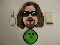 The Dude - The Big Lebowski magnet set perler beads by thedudeabeads