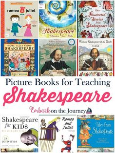 Don't be intimidated by Shakespeare. Introduce your kiddos to his plays with these fun picture books. | embarkonthejourne...