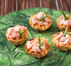 Athens Foods | Ham and Herbed Cheese Phyllo Shells - Athens Foods