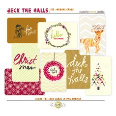 Snap Click Supply Co. - Life Journal: Deck The Halls, $3.99 (http://www.snapclicksupply.com/life-journal-deck-the-halls/)
