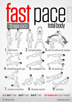 Fast Pace Total Body workout
