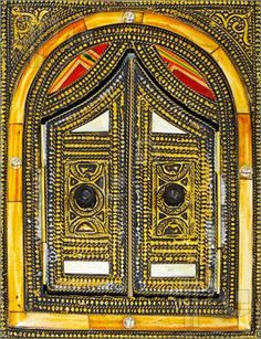 Africa | Traditional style double decorative metal Moroccan door | © Baloncici