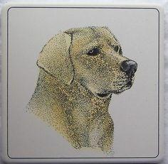 Barlow ArtStone Coasters Absorbent Yellow Lab Labrador