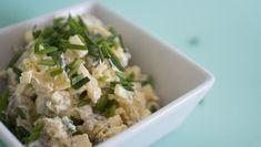 Kartoffelsalat mit gesunder Mayonnaise - alles selbstgemacht. Glutenfrei, Zuckerfrei, Laktosefrei. So schmeckt der gesündeste Kartoffelsalat aller Zeiten.
