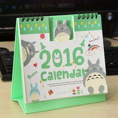 Wish | My Neighbour Totoro 2016 Diary Desktop Calender Notepad Calendars Planners Office Supplies Xmas Christmas Home Decor