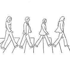 Beatles #beatles #abbeyroad #yunagaba #kaerusensei #art by kaerusensei