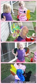 Homemade DIY Toddler Fairy {Butterfly} Wings. So cute! And made with stuff I already have.
