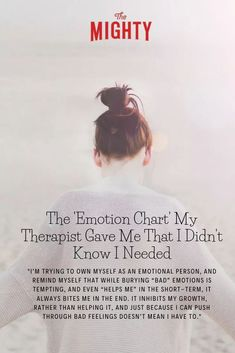 The 'Emotion Chart' My Therapist Gave Me That I Didn't Know I Needed
