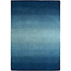 Ombre accent rug to tie together colors