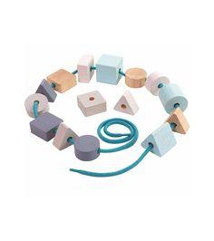 Ξύλινο Παιχνίδι - Χάντρες και Γεωμετρικά Σχήματα από την Plan Toys €19.00 Kai, Chicken