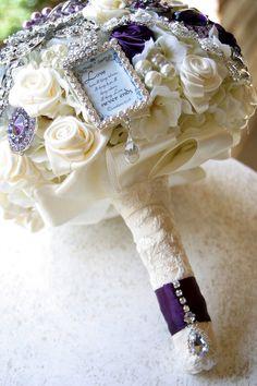 Majestic purple brooch wedding bouquet Deposit on by annasinclair, $75.00