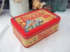 French Cookie biscuit tin box by FrenchGypsy on Etsy, $12.00