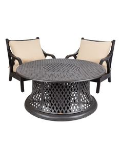 Look at this Lombock Gas Fire Pit & Chair Set on #zulily today!