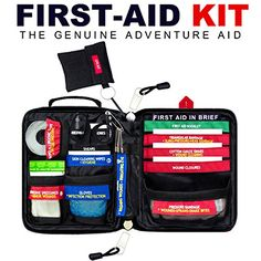 Adventure Aid First Aid Kit HANDY  Innovative  Safety Tool  This Emergency Kit Fits for Outdoor Home Travel Sport Like Camping or Hiking Car or School Be Prepared for Aid * Read more reviews of the product by visiting the link on the image.