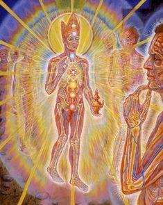 Declaration of Creative Spirit. Nature of Mind Panel 7 by Alex Grey Alex Grey, Alex Gray Art, Psychedelic Art, Psy Art, True Art, Process Art, Visionary Art, Sacred Art, Animal Tattoos