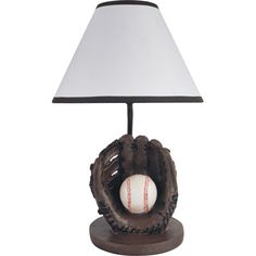 """Milton Green Star Youth Baseball 15.75"""" H Table Lamp with Empire Shade"""