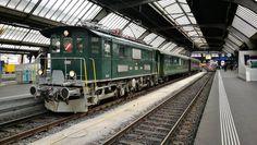 """25 Me gusta, 1 comentarios - swiss trainphotography (@swiss_trains) en Instagram: """"Ein Historic-Extra-Zug des DVZO Dampfbahnverein Zürcher Oberland mit der Be 4/4 und 2 Wagen im…"""""""