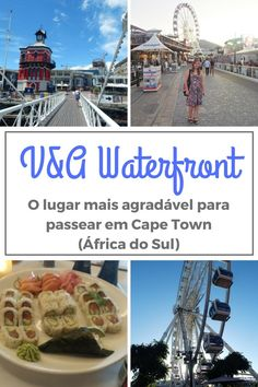 Conheça o V&A Waterfront o lugar mais agradável para passear em Cape Town na África do Sul. Lojas, restaurantes, shopping e eventos! Cape Town, Places Around The World, Around The Worlds, V&a Waterfront, Garden Route, South Africa, Beautiful Places, Places To Visit, Wanderlust