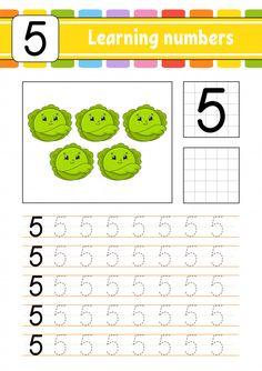 Trace and write. Preschool Number Worksheets, Preschool Writing, Numbers Preschool, Learning Numbers, Preschool Learning, Worksheets For Kids, Preschool Activities, Teaching Kids, Preschool Alphabet