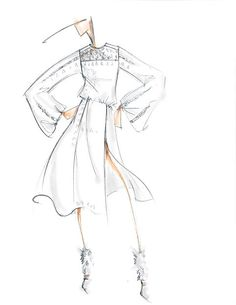 BCBG plus 32 other designer sketches from NYFW fall/winter 2015.