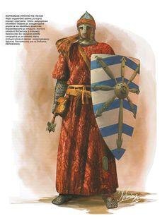 Cavaliere normanno in Italia, XI secolo Medieval World, Medieval Knight, Medieval Armor, Medieval Fantasy, European History, Art History, Soldado Universal, Norman Knight, Samurai