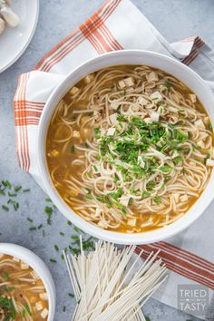 Simple Homemade Vegetarian Ramen // Processed ramen is full of so many things you don't want or need in your food. Make it from scratch and you get to control what you're eating. Plus it tastes phenomenal super fresh!   Tried and Tasty