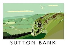 Great prices on your favourite Home brands, and free delivery on eligible orders. Posters Uk, Railway Posters, Retro Posters, Yorkshire Dales, North Yorkshire, Sutton Bank, British Travel, Travel Ads, Vintage Travel Posters