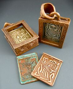 We need to start using this metal clay stuff!!!!!!            Incredible handmade metal clay artistry by Wanaree.