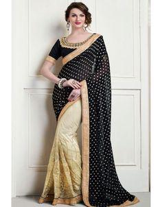 Magnificent Beige and Black #Saree