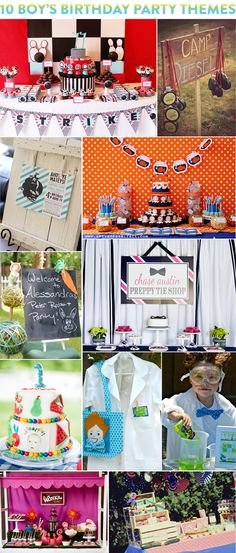 Top 10 Boy's Birthday Party Themes! #parties