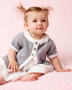 Bernat Softee Baby - Top Down Cardigan (free knit pattern) #bernatbaby