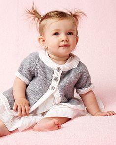Bernat Softee Baby - Top Down Cardigan (free knit pattern) #bernatbaby