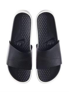 915f7f384 NIKE Benassi Lux Slides Leather Sandals