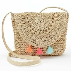 Crochet Cute Bags, Beach Bag, and Handbag Image Pattern for 2019 - Daily Crochet. - Bags and Purses 👜 Crochet Shell Stitch, Crochet Tote, Crochet Handbags, Crochet Purses, Purse Patterns, Crochet Patterns, Crochet Ideas, Knitting Patterns, Crochet Shoulder Bags
