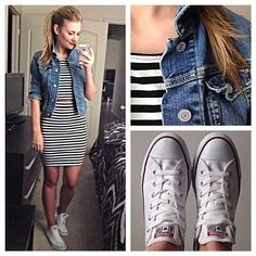 Horizontal stripes might not be good for my figure but I like the idea of the outfit