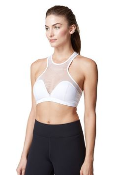 The mesh throughout the front and the back of the designer bra offer extra ventilation in case you want to use it to workout. #mesh