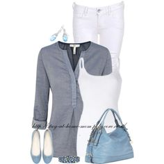 """""""Denim Blouse"""" by stay-at-home-mom on Polyvore"""